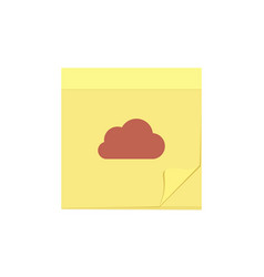 cloud comment message note task icon vector image