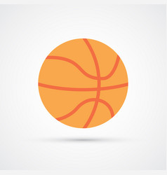 colored basketball ball symbol vector image