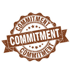 commitment stamp sign seal vector image