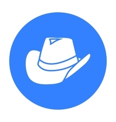 Cowboy hat icon black Singe western icon from the vector image