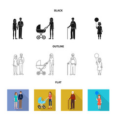 design of character and avatar icon vector image