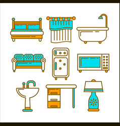 different home furniture vector image