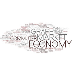 Digital economy word cloud concept vector