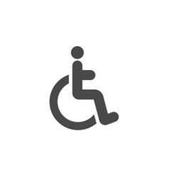Disabled icon design template isolated vector