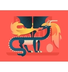 Dragon flat concept vector image