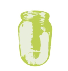 Empty glass jar isolated on a white background vector image vector image