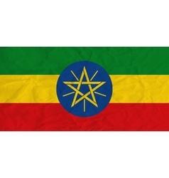 Ethiopia paper flag vector image