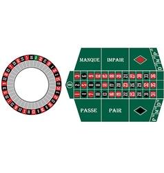 Frech roulette vector