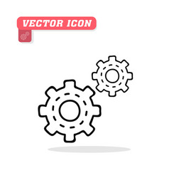 gear icon white background image vector image