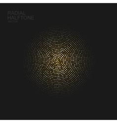 Golden halftone pattern vector image