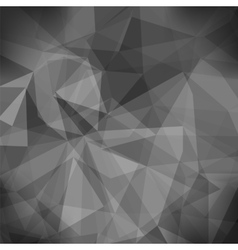 Gray Light Polygonal Mosaic Background vector image