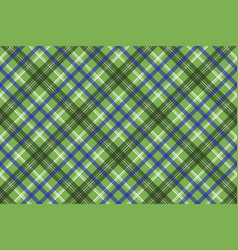 green tartan check plaid seamless pixel pattern vector image