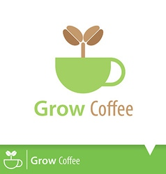 Grow coffee icon vector