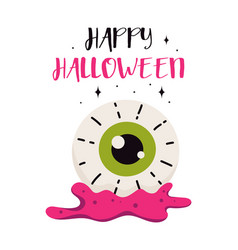 halloween card with eye isolated on white vector image