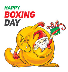 happy boxing day concept banner cartoon style vector image