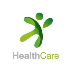 healthy people logo medical logo design concept vector image