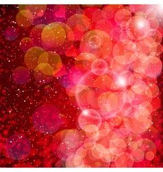 Hearts and stars background vector image