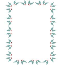 Holly border vector image