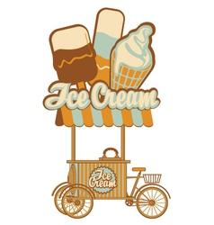 Ice cream on wheels vector