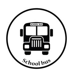 Icon of School bus vector