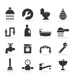 Icons sanitary technicians2 vector