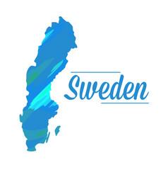 Isolated swedish map vector