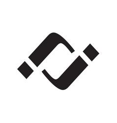 jj initial logo vector image