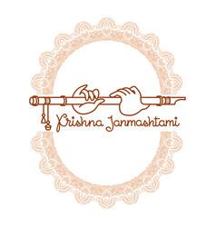 Krishna janmashtami greeting card vector