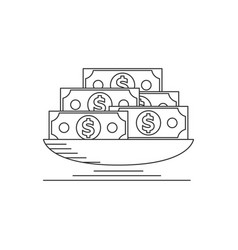 lot of money vector image