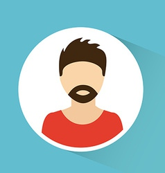 man avatar design vector image