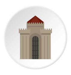 Medieval building icon circle vector