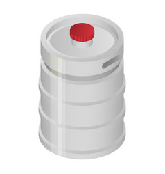 metal beer barrel icon isometric style vector image