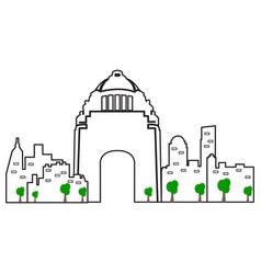 mexico city cityscape vector image
