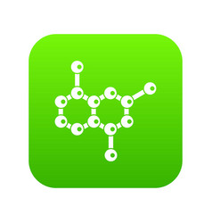 molecule icon digital green vector image