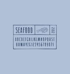 Narrow sans serif font in the style of hand-drawn vector