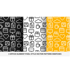 office element pixel style pattern swatches vector image