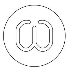 Omega greek symbol small letter lowercase font vector