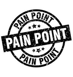 pain point round grunge black stamp vector image