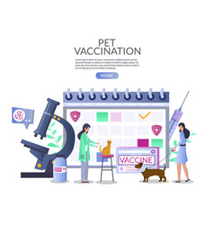 pet vaccination web banner template vector image