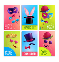 photobooth cards set vector image