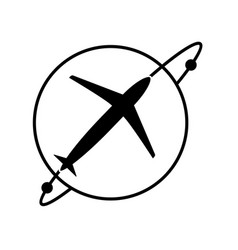 plane-04 vector image