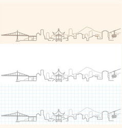 Portland hand drawn skyline vector