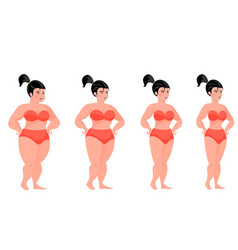 pretty woman fitness four stages vector image