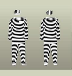 Prison uniform vector