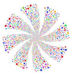 problem fireworks swirl flower vector image