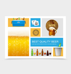 realistic brewing composition vector image