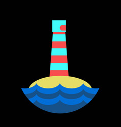 realistic lighthouse building isolated on vector image