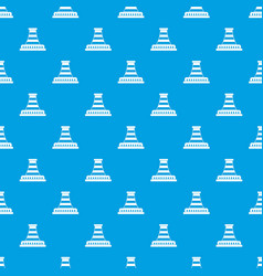 Refinery with pipe pattern seamless blue vector