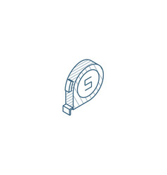 roulette isometric icon 3d line art technical vector image
