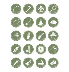Scouting icons vector